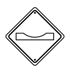 Gap in track traffic signal information icon vector