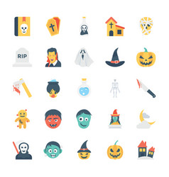 halloween colored icons 2 vector image