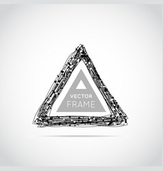 Hand drawn triangle vector