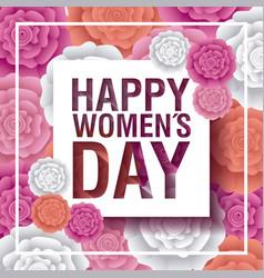 Happy womens day celebration vector