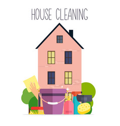 House cleaning poster template for house cleaning vector