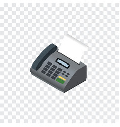 Isolated fax telephone isometric office phone vector