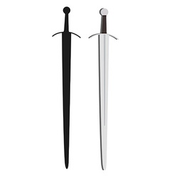 Medieval sword vector image