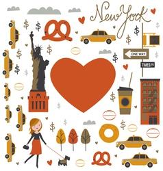NYC print vector image vector image