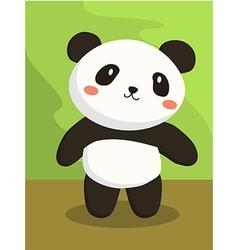 Panda bear cartoon vector