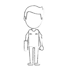 patient with arm plastered vector image vector image
