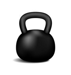 retro dumbbell with a shadow vector image vector image