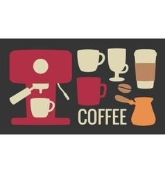 Set coffee icon Coffee machine cezve or turkish vector image vector image