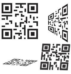 Set of qr code and flash code vector image