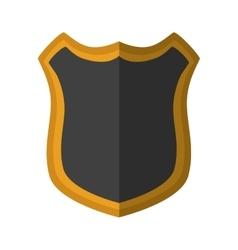 Shield protection dark yellow frame shadow vector