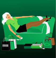 Shopaholic vector image vector image