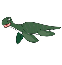 The green image of a plesiosaur vector image vector image