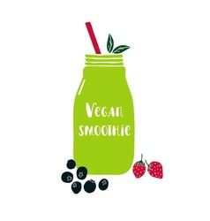Vegan smoothie vector image vector image