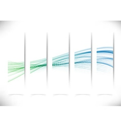 Vertical abstract swoosh line flyers collection vector image vector image
