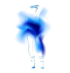 Watercolor sketch of a fashion model vector image