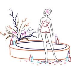 Woman in spa salon vector image vector image