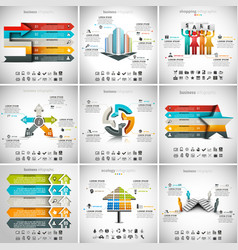 9 in 1 infographic bundle vector