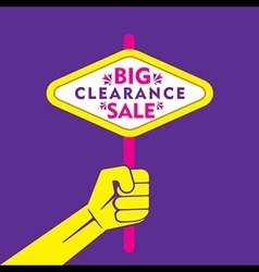Big clearance sale banner or poster design vector