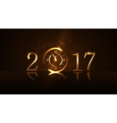 Happy New Year background gold vector image