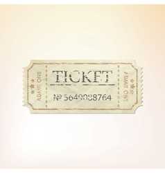 Old vintage paper ticket with number eps 8 vector