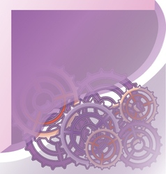 Mechanism system cogwheels vector image