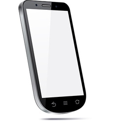 Touchscreen 3d smartphone concept vector
