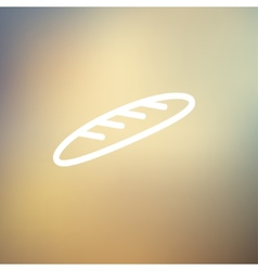 Bread thin line icon vector