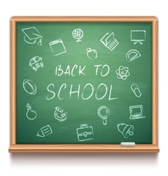 Green school chalk board vector