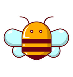 Bee icon cartoon style vector