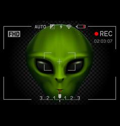 Camera rec alien in dark vector