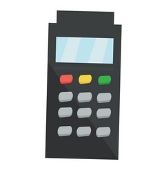 Credit card terminal cartoon vector