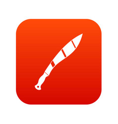 Crooked knife icon digital red vector