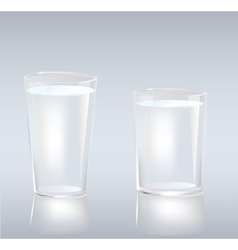 Cups of water vector