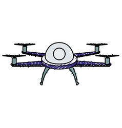 Drone flying technology icon vector