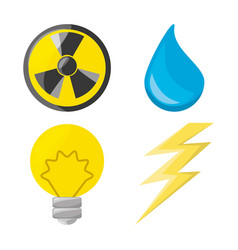 Flat icon releated with nuclear energy drop water vector