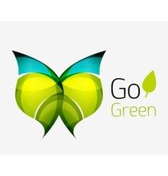 Go green abstract nature logo vector image