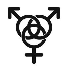Homosexual family icon vector