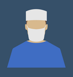 Male doctor medical object flat icon vector