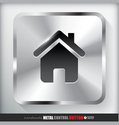 Metal home button vector
