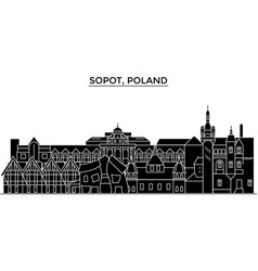 poland sopot architecture city skyline vector image