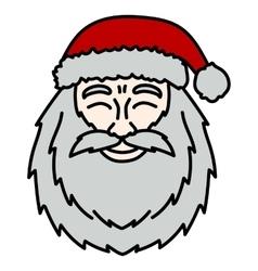 Portrait Santa Claus Christmas vector image vector image