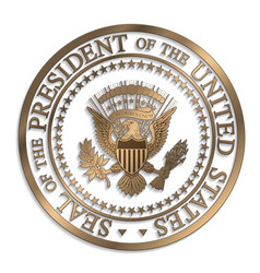 Presidential seal - gold against white ai vector