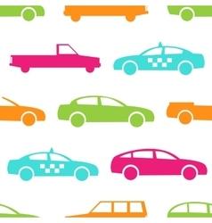 Retro car seamless pattern vector image vector image