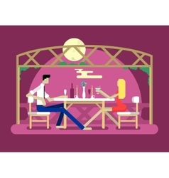 Romantic date design vector image
