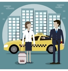Taxi Cab Services vector image vector image