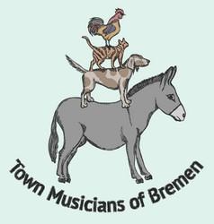 Town musicians of bremen vector