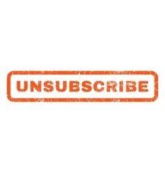 Unsubscribe Rubber Stamp vector image vector image