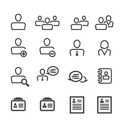 user icon line vector image