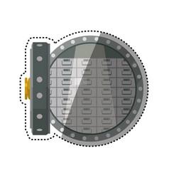 Vault safe deposit bank vector