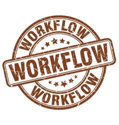 Workflow brown grunge stamp vector